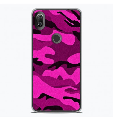 Coque en silicone Wiko View 2 - Camouflage rose