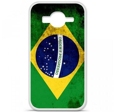 Coque en silicone pour Samsung Galaxy Core Prime / Core Prime VE - Drapeau Brésil