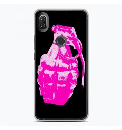 Coque en silicone Wiko View 2 - Grenade rose