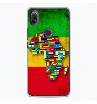 Coque en silicone Wiko View 2 - Drapeau Africa Unite