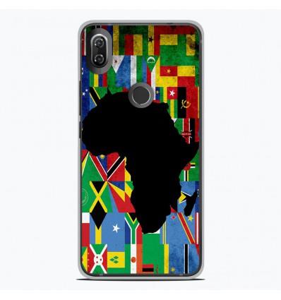 Coque en silicone Wiko View 2 - Drapeau Afrique