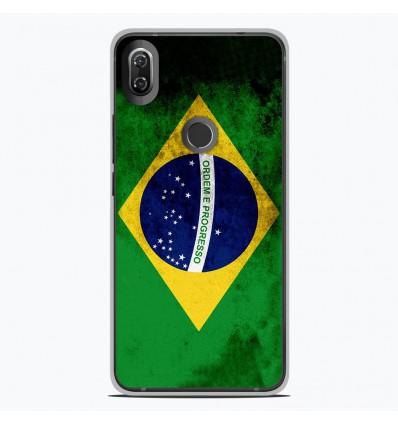 Coque en silicone Wiko View 2 - Drapeau Brésil