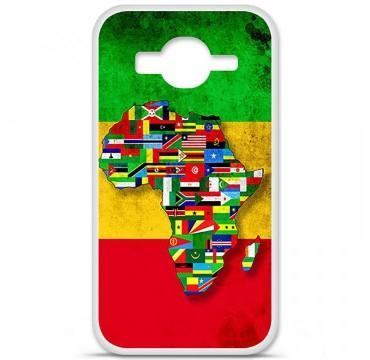 Coque en silicone Samsung Galaxy Core Prime / Core Prime VE - Drapeau Africa Unite