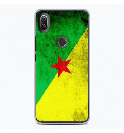 Coque en silicone Wiko View 2 - Drapeau Guyane