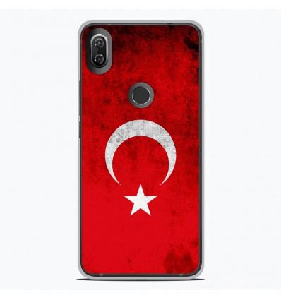 Coque en silicone Wiko View 2 - Drapeau Turquie