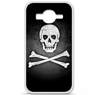Coque en silicone Samsung Galaxy Core Prime / Core Prime VE - Drapeau Pirate
