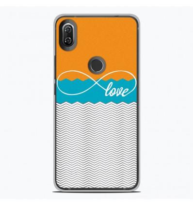 Coque en silicone Wiko View 2 - Love Orange