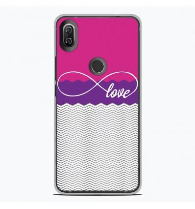 Coque en silicone Wiko View 2 - Love Rose