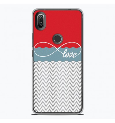 Coque en silicone Wiko View 2 - Love Rouge