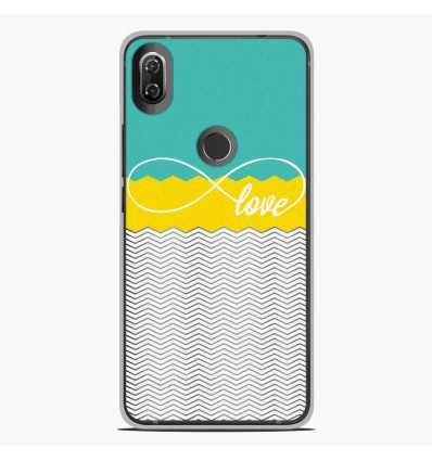 Coque en silicone Wiko View 2 - Love Turquoise