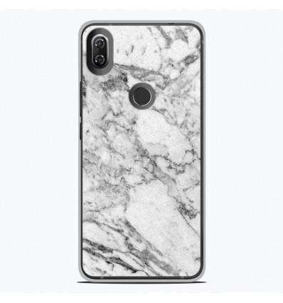 Coque en silicone Wiko View 2 - Marbre Blanc