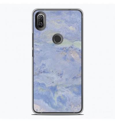Coque en silicone Wiko View 2 - Marbre Bleu
