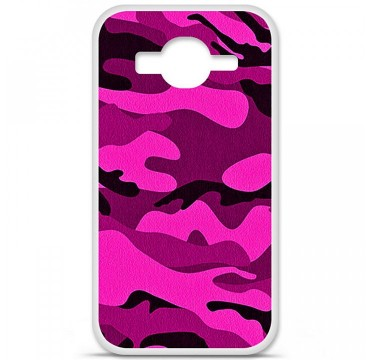 Coque en silicone pour Samsung Galaxy Core Prime / Core Prime VE - Camouflage rose
