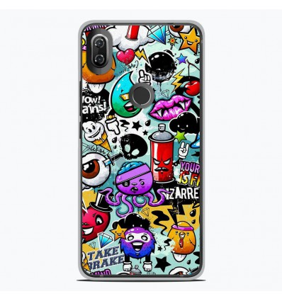 Coque en silicone Wiko View 2 - Graffiti 2