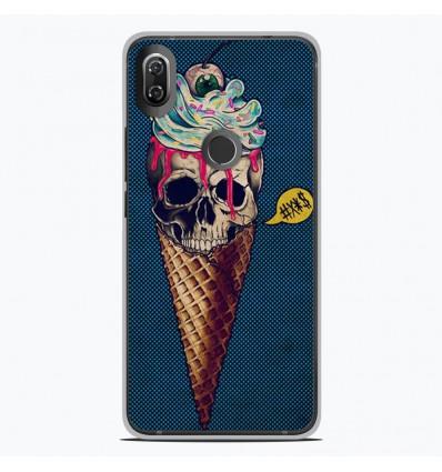 Coque en silicone Wiko View 2 - Ice cream skull blue