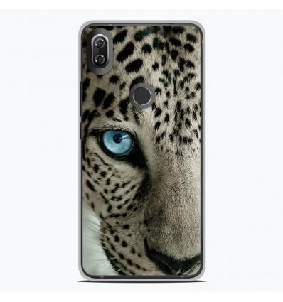 Coque en silicone Wiko View 2 - Oeil de léopard