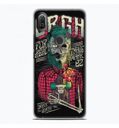 Coque en silicone Wiko View 2 - Skull Urgh