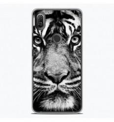 Coque en silicone Wiko View 2 - Tigre blanc et noir