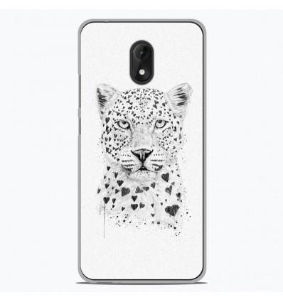 Coque en silicone Wiko Lenny 5 - BS Love leopard