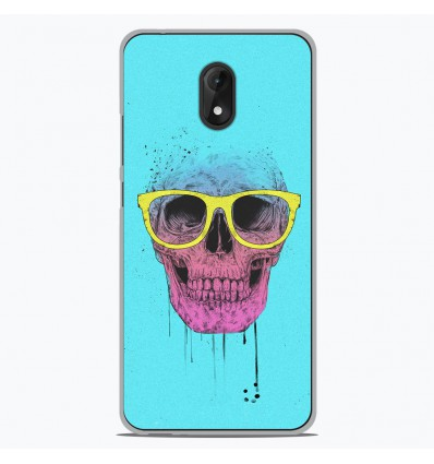Coque en silicone Wiko Lenny 5 - BS Skull glasses