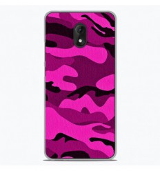 Coque en silicone Wiko Lenny 5 - Camouflage rose