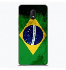 Coque en silicone Wiko Lenny 5 - Drapeau Brésil
