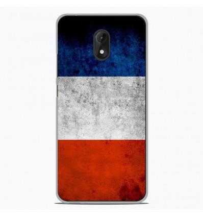 Coque en silicone Wiko Lenny 5 - Drapeau France