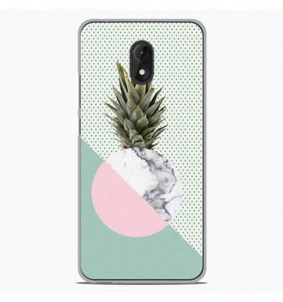 Coque en silicone Wiko Lenny 5 - Ananas marbre