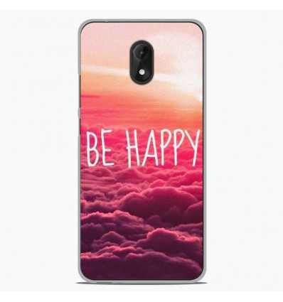 Coque en silicone Wiko Lenny 5 - Be Happy nuage