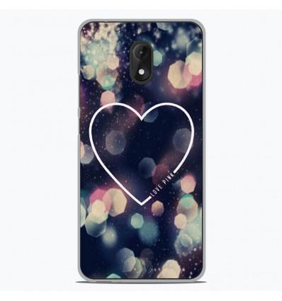 Coque en silicone Wiko Lenny 5 - Coeur Love