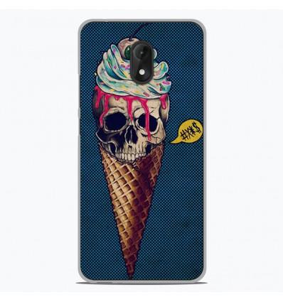 Coque en silicone Wiko Lenny 5 - Ice cream skull blue