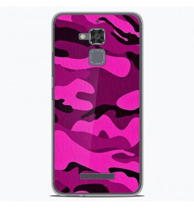 Coque en silicone Asus Zenfone 3 Max ZC520TL - Camouflage rose