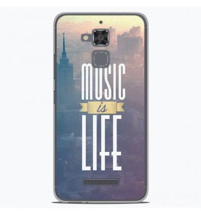 Coque en silicone Asus Zenfone 3 Max ZC520TL - Music is life
