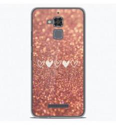 Coque en silicone Asus Zenfone 3 Max ZC520TL - Paillettes coeur