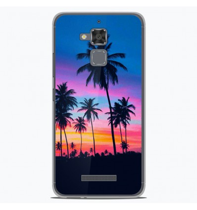 Coque en silicone Asus Zenfone 3 Max ZC520TL - Palmiers colorés