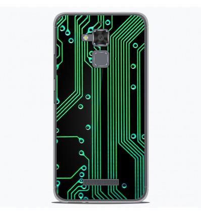 Coque en silicone pour Asus Zenfone 3 Max ZC520TL - Texture circuit geek