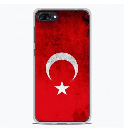 Coque en silicone Asus Zenfone 4 max ZC520KL - Drapeau Turquie