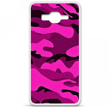 Coque en silicone Samsung Galaxy Grand Prime / Grand Prime VE - Camouflage rose