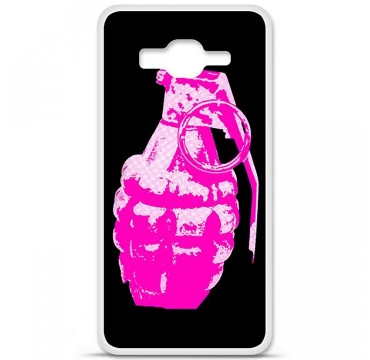 Coque en silicone Samsung Galaxy Grand Prime / Grand Prime VE - Grenade rose