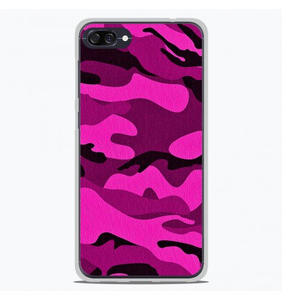 Coque en silicone Asus Zenfone 4 Max ZC554KL - Camouflage rose
