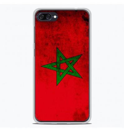 Coque en silicone Asus Zenfone 4 Max ZC554KL - Drapeau Maroc