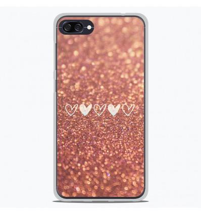Coque en silicone Asus Zenfone 4 Max ZC554KL - Paillettes coeur