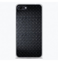 Coque en silicone Asus Zenfone 4 Max ZC554KL - Texture metal