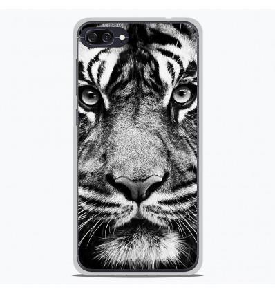 Coque en silicone Asus Zenfone 4 Max ZC554KL - Tigre blanc et noir