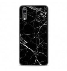Coque en silicone Huawei P20 - Marbre Noir