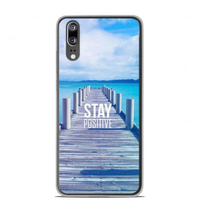 Coque en silicone Huawei P20 - Stay positive