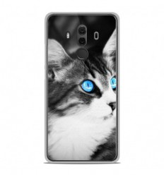 Coque en silicone Huawei Mate 10 Pro - Chat yeux bleu