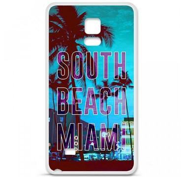 Coque en silicone Samsung Galaxy Note 4 - South beach miami