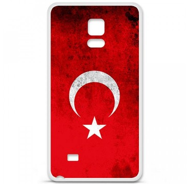 Coque en silicone pour Samsung Galaxy Note 4 - Drapeau Turquie