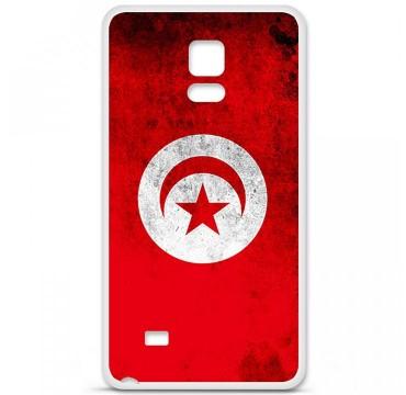 Coque en silicone Samsung Galaxy Note 4 - Drapeau Tunisie